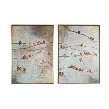 Set 2 tablouri pictate manual Graham & Brown Birds de la Graham & Brown
