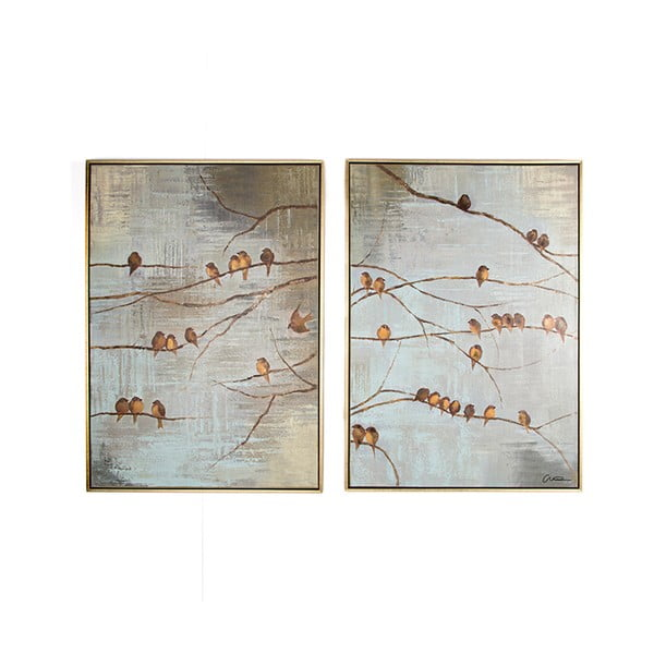 Set 2 tablouri pictate manual Graham & Brown Birds