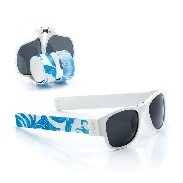 Modro-bílé sluneční srolovatelné brýle InnovaGoods Sunfold ST3