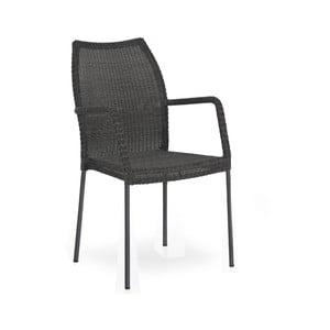 Černá zahradní židle s opěradly na ruce Brafab Angelica