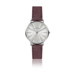 Ceas damă Frederic Graff Silver Monte Rosa Lychee Bordeaux Leather, curea din piele, roșu