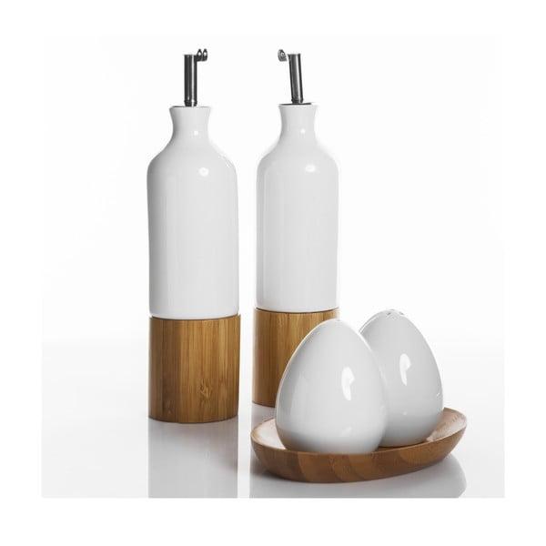 Sada slánky, pepřenky a lahve na olej a ocet Oliandra