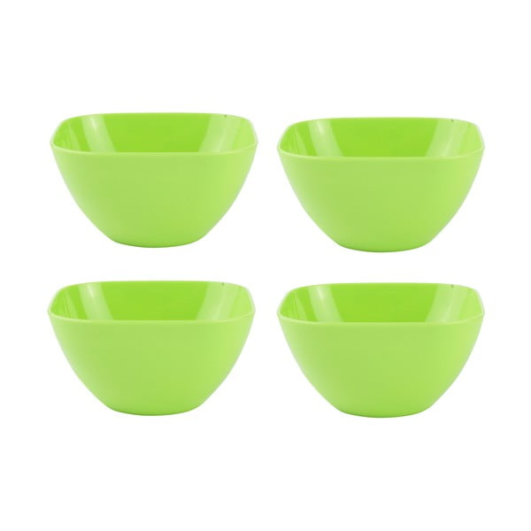Sada 4 salátových mís 12,5 cm, zelená