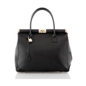 Černá kožená kabelka Glorious Black Antonella