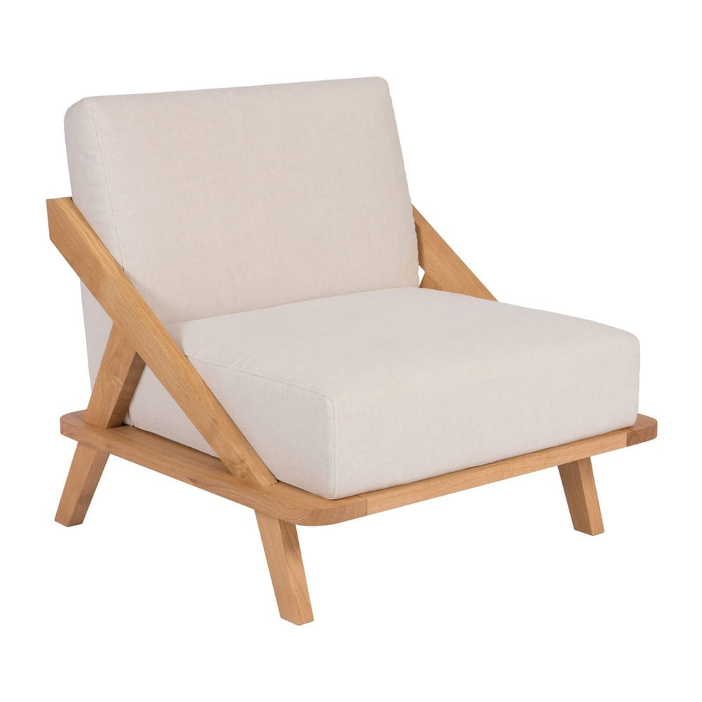 Křeslo s konstrukcí z dubového dřeva Ellenberger design Nordic Space