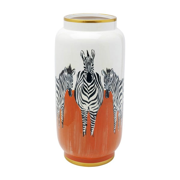 Váza Kare Design Orange Zebras, výška 39 cm