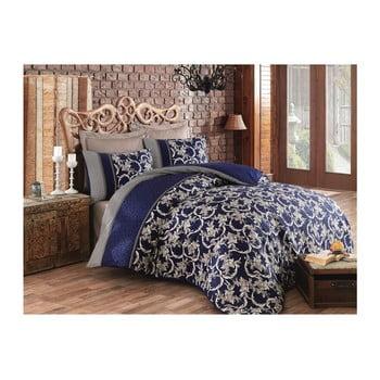 Lenjerie de pat din bumbac cu cearșaf și fețe de pernă Pera, 200 x 220 cm de la Cotton Box