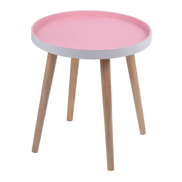 Růžový stolek Ewax Simple Table, 38 cm