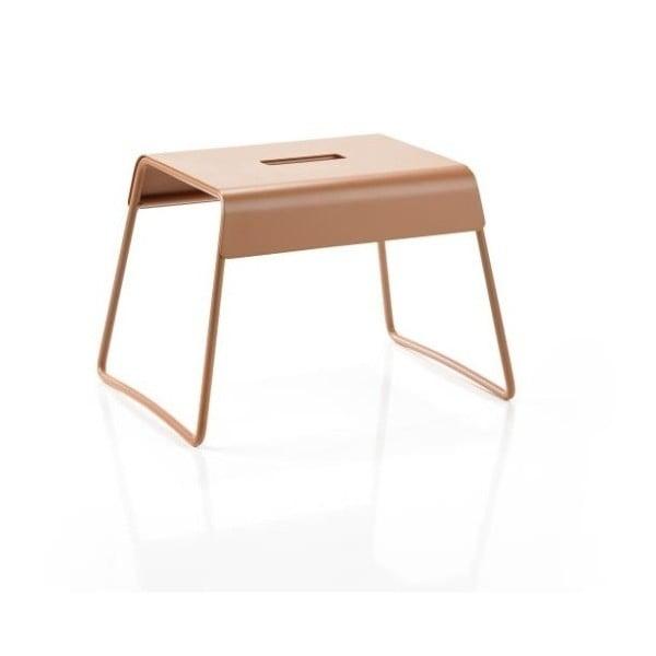 Jantarově oranžová ocelová stolička Zone A-Stool Amber