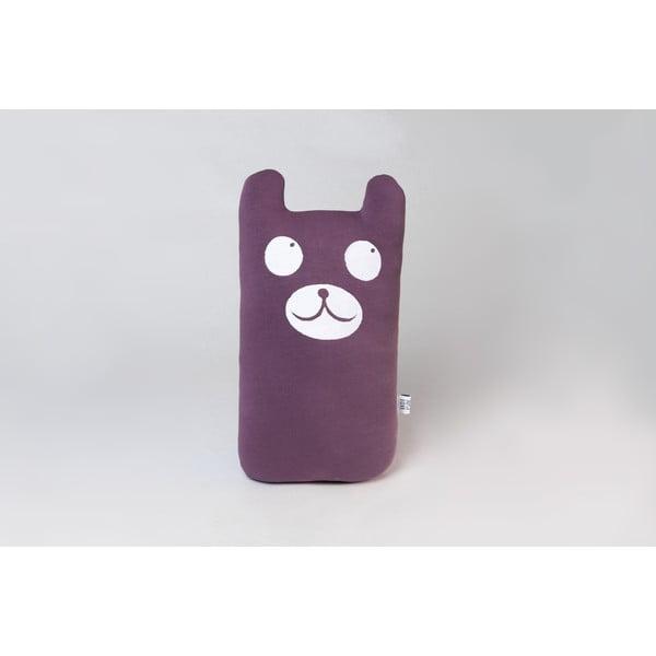 Polštářek Medvěd, fialový