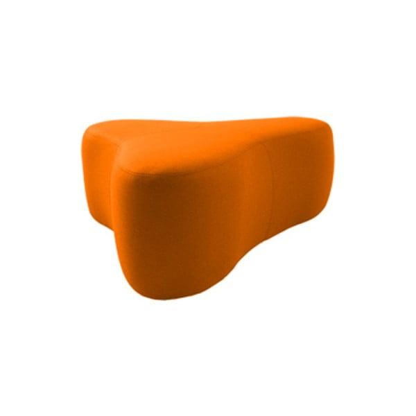 Oranžový puf Softline Chat Valencia Orange, délka 130 cm