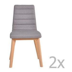 Sada 2 šedých židlí Garageeight Nybro
