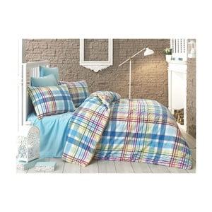 Lenjerie de pat cu cearșaf din bumbac Katch, 160 x 220 cm