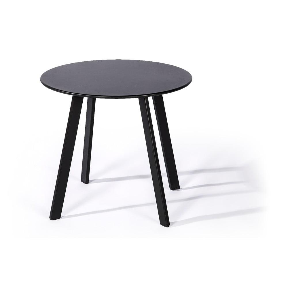 Šedý zahradní stůl Le Bonom Full Steel, ø 50 cm