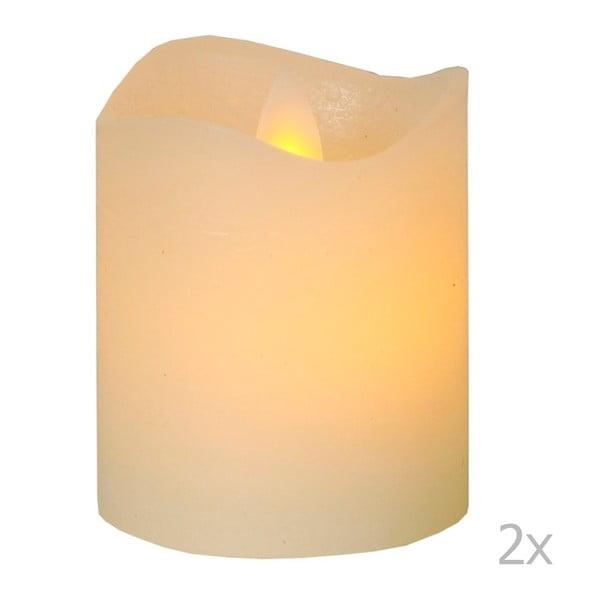Sada 2 LED svíček Best Season Cremeca, Ø5 cm