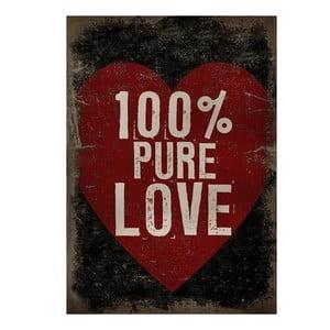 Obraz na plátně 100% pure love, 71x50 cm