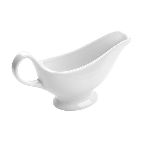 Biela porcelánová nádoba na omáčku Premier Housewares Gravy Boat