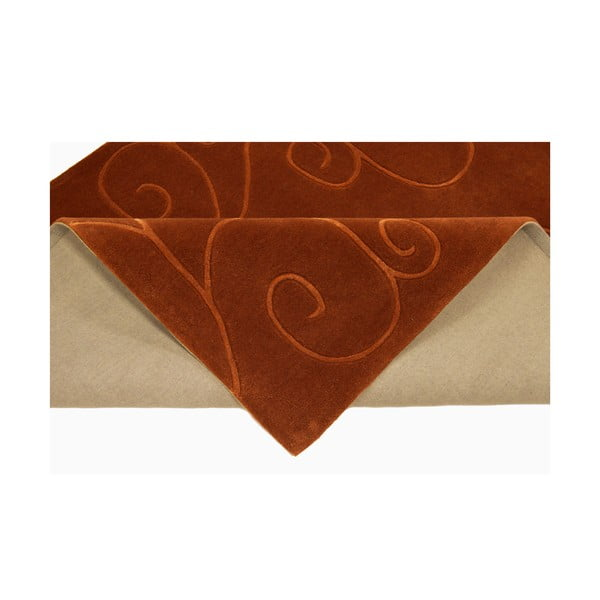 Ručně tkaný koberec Tufting, 120x180 cm, čokoládový