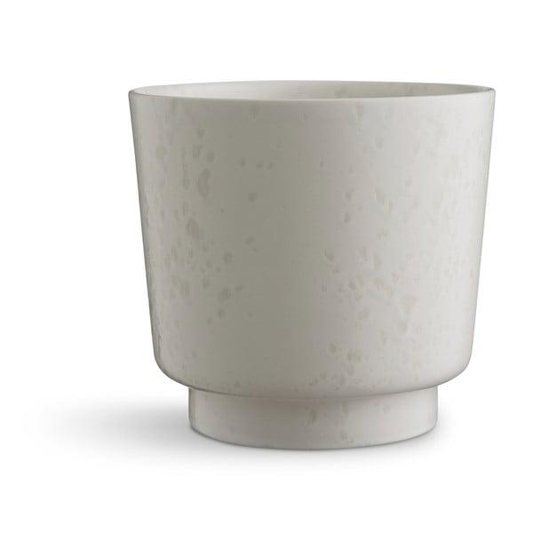 Bílý kameninový květináč Kähler Design Ombria, ⌀ 18,5 cm