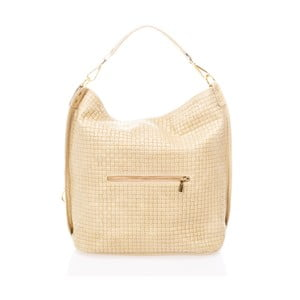 Krémová kabelka z pravé kůže Federica Bassi Lauren