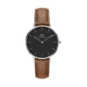 Dámské hodinky s hnědým páskem Daniel Wellington Durham Silver, ⌀32mm