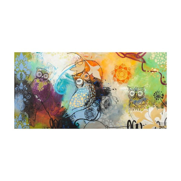 Freja Owl Multicolor, 140x70 cm