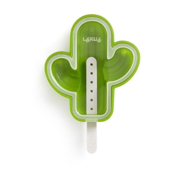 Zelená silikonová forma na zmrzlinu ve tvaru kaktusu Lékué