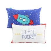Oboustranný bavlněný povlak na polštář Mr. Fox Space Rocket, 50x30cm