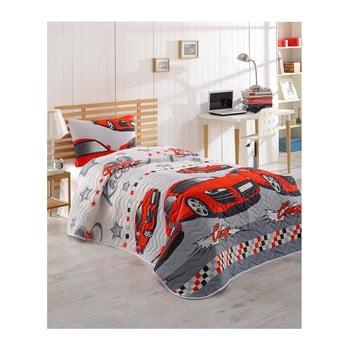 Set cuvertură pentru pat și față de pernă Eponj Home Crazy Red, 160 x 220 cm