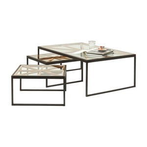 Sada 3 konferenčních stolků Kare Design Beam