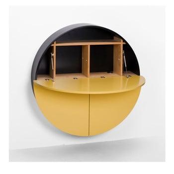Masă multifuncțională de perete Pill EMKO, negru - galben imagine
