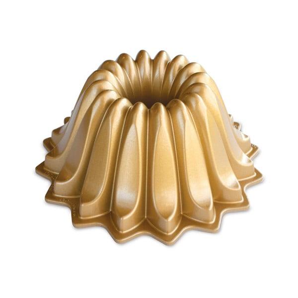 Formă pentru guguluf Nordic Ware Lotus, 1,2 l, auriu