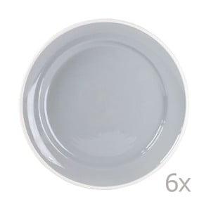 Sada 6 talířů Puck 26.5 cm, šedý