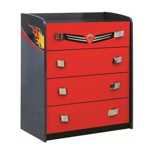 Červená komoda Champion Racer Dresser