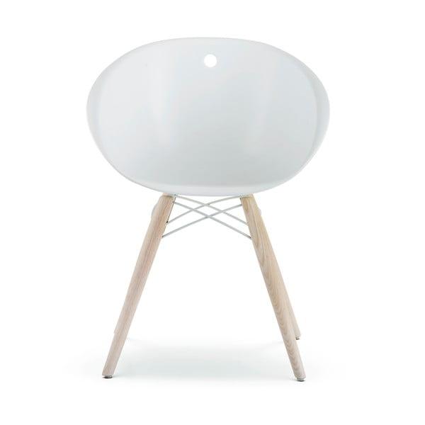Bílá židle Pedrali Gliss Wood