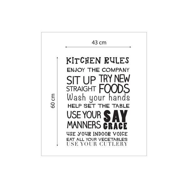 Vinylová samolepka na stěnu Kitchen Rules