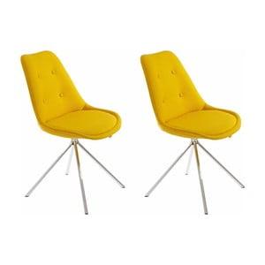 Sada 2 žlutých jídelních židlí Støraa Dylan
