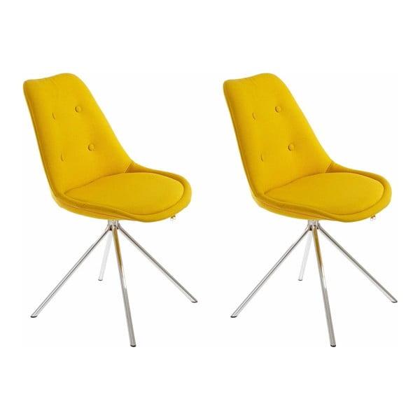 Zestaw 2 żółtych krzeseł Støraa Dylan
