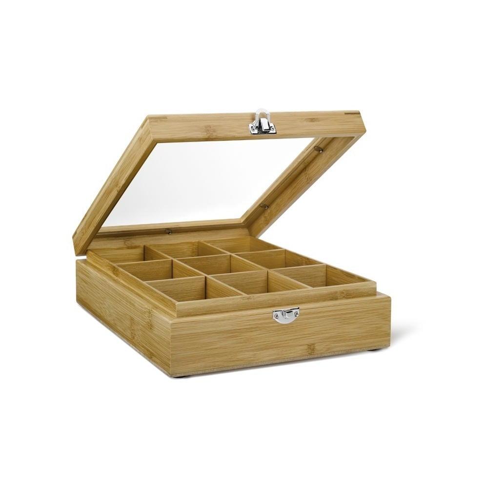 Bambusová krabička na čaj s 9 přihrádkami Bredemeijer