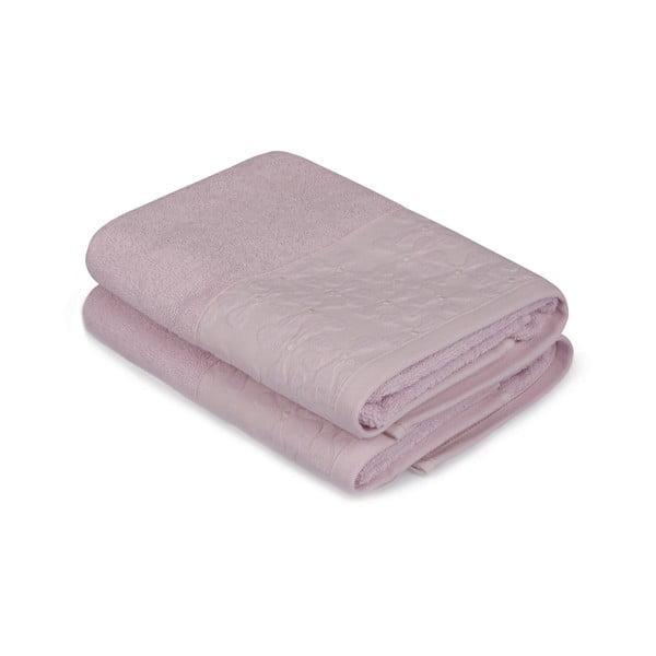 Sada 2 růžových ručníků na ruce Barbara
