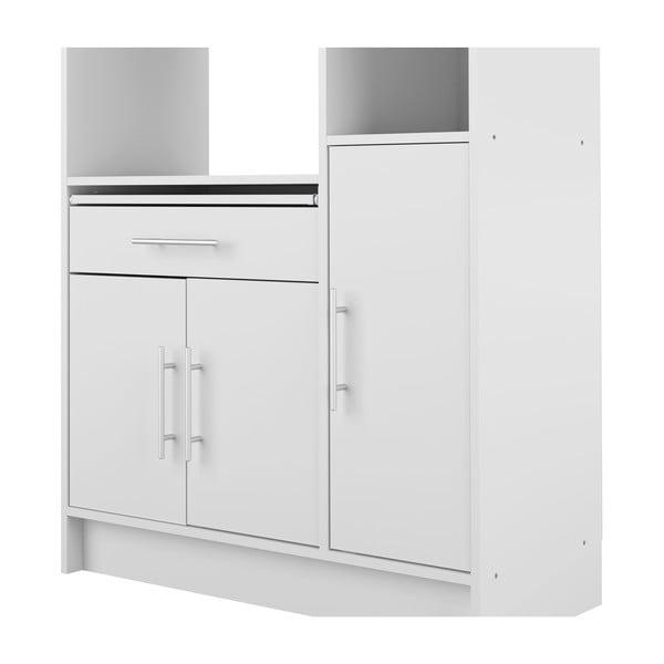 Bílý kuchyňský úložný systém s policemi Symbiosis Louis