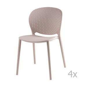 Set 4 scaune sømcasa Betsy, bej