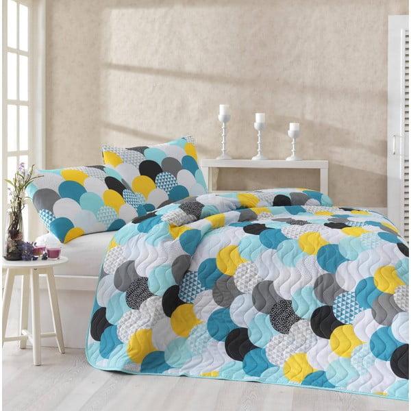 Set cuvertură pentru pat și față de pernă Eponj Home Damla Mint, 160 x 220 cm