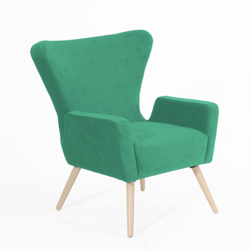 Zelené křeslo Max Winzer Luigi