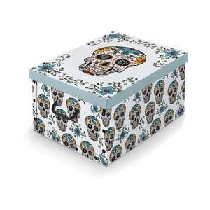Úložný box s rukojetí Domopak Lebky, délka 50cm