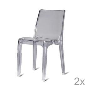 Sada 2 plastových židlí Kobe