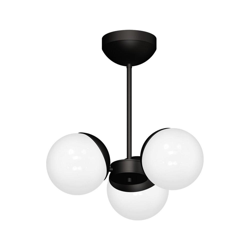 Černý lustr Sphere Tres