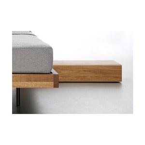Noční stolek z olejovaného dubového dřeva Mazzivo Cubbe2.0