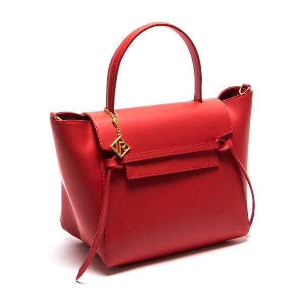 Kožená kabelka Isabella Rhea 394, červená