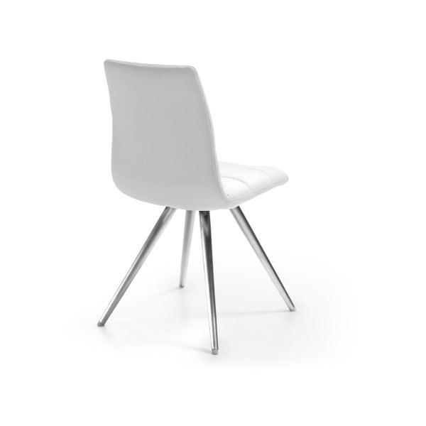Bílá židle s chromovaným podnožím La Forma Lark2